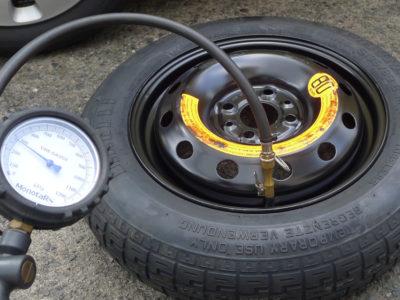 スペアタイヤの空気圧は点検していますか?